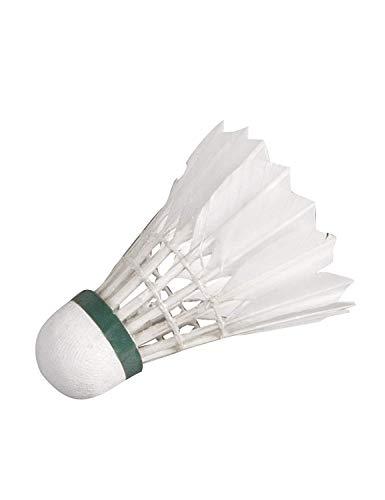 HUDORA Natur-Federbälle, 6 Stück - Federball-Set Badminton-Bälle - 76053/01