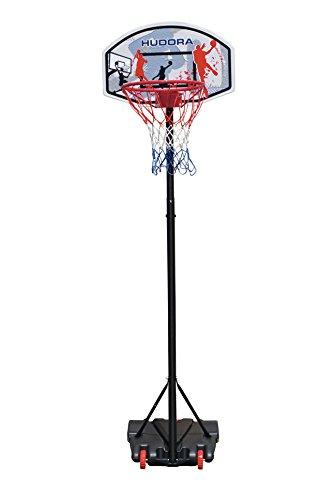 Hudora Unisex-Youth Basketballständer All Stars Basketball-Ständer, höhenverstellbar-Basketball-Korb-71655, schwarz,blau,rot, one Size