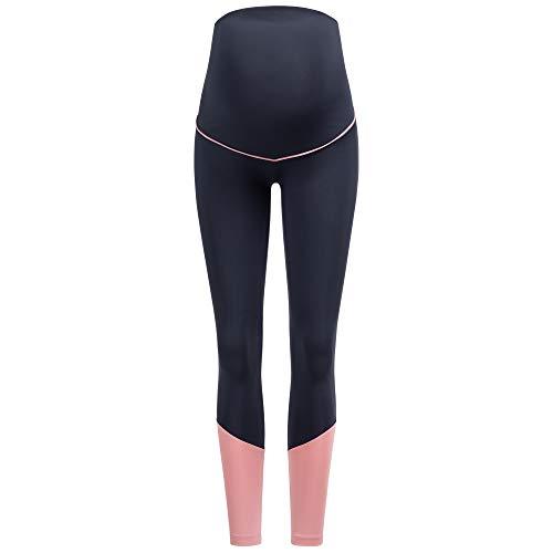 Herzmutter Umstands-Sport-Leggings – Umstands-Yogahose für Schwangere – Active-Umstandsleggings Sport für die Schwangerschaft – Umstands-Sporthose - 8300 (Dunkelblau, S)