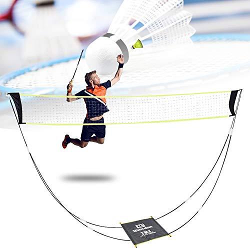 Badminton-Netz,Tragbares Badmintonnetz für Garten und Stand, Tragetasche, Volleyballnetz für den Innen- und Außenbereich, Strandsport (Yellow) (Yellow)