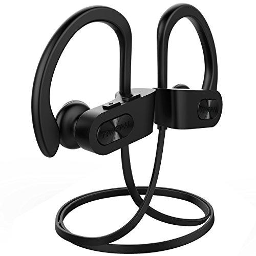 Mpow Flame Bluetooth Kopfhörer, IPX7 Wasserdicht Kopfhörer Sport, Bluetooth 5.0/7-10 Stunden Spielzeit/Bass+ Technologie, Sportkopfhörer Joggen/Laufen, In Ear Kopfhörer mit HD-Mikrofon