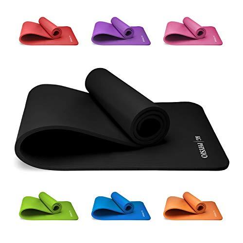 KG Physio Premium Yogamatte, Sportmatte, Gymnastikmatte, Fitnessmatte, Trainingsmatte oder zuhause mit Schultertragegurt 183 x 60 x 1cm
