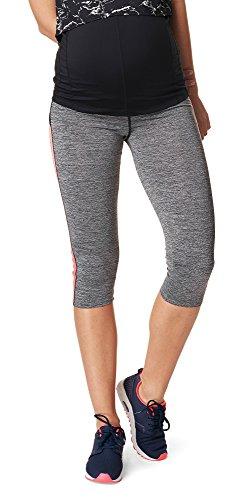 Noppies Umstandsmode Damen Sport-Legging Umstands-Sportleggings Activewear (Grey Melange, XL-XXL)