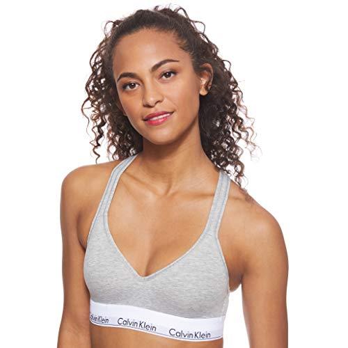Calvin Klein Damen Bustier Bralette Lift BH, Grau (Grey Heather 020), S