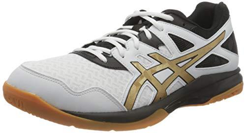 ASICS Herren Gel-Task 2 Indoor Court Shoe, White/Pure Gold, 42.5 EU