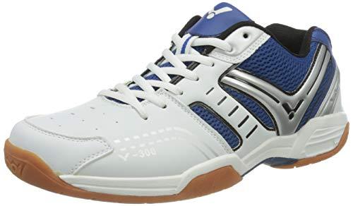 VICTOR V-300 Indoor Sportschuh/Badmintonschuh/Hallenschuh, Blau/Weiß, Größe 43