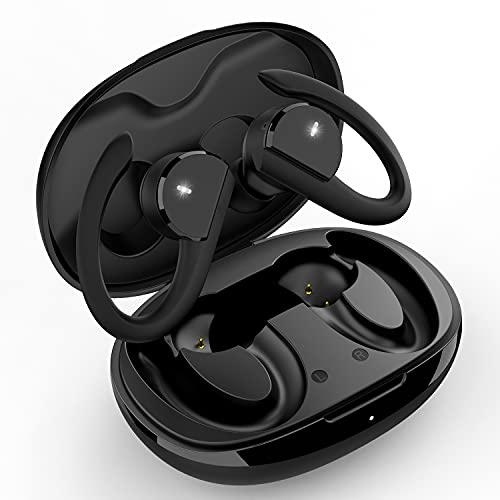 Bluetooth Kopfhörer Sport, Kopfhörer Kabellos IPX7 Wasserdicht, Bluetooth Kopfhörer in Ear Schwerer Bass mit Mikrofon, Kopfhörer Bluetooth mit 36 Stunden Spielzeit für Alle Smartphone