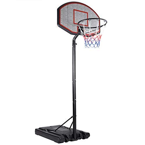 Deuba Mobiler Basketballkorb mit Rollen verstellbare Korbhöhe 257 - max. 305cm Wettkampfhöhe Basketball WM Ständer Hoop Stand komplett