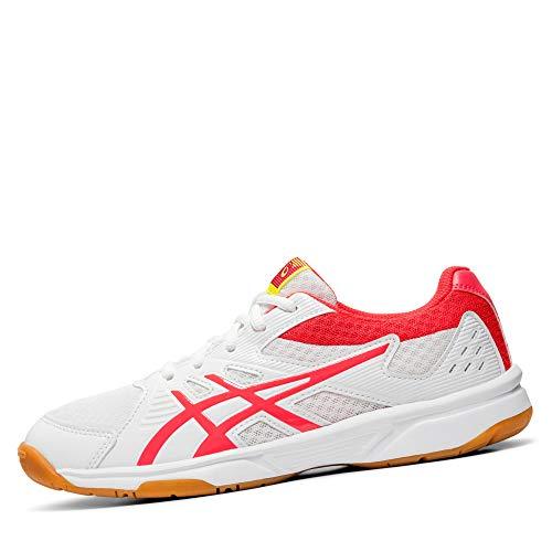 ASICS Damen Upcourt 3 1072A012-104 Volleyball-Schuh, White/Laser Pink, 39.5 EU