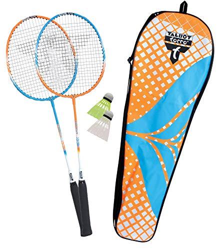 Talbot Torro Unisex– Erwachsene 2-Attacker Badminton- und Federball Set Orange-Cyan One Size