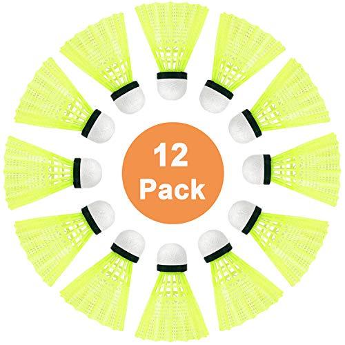 SenLuKit Pro-Nylon Federball, 12er Dose, Premium Gänsefeder Badminton Set, Bälle Naturfederbälle mit hoher Stabilität und Haltbarkeit, Federball Training Badmintonbälle für Bewegung, Unterhaltung